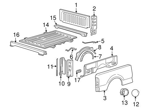 Ford F-150 Explorer Sport Trac Truck Bed Pickup Box Inner