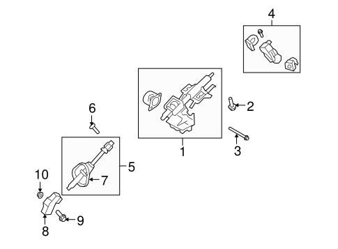 Steering Column Assembly for 2010 Mercury Mariner