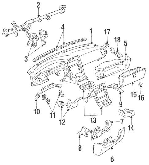 Genuine OEM Instrument Panel Parts for 1991 Toyota MR2