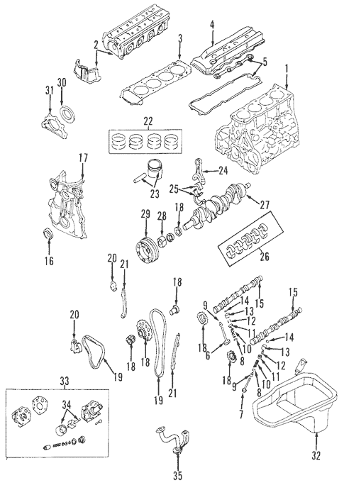 OEM 2000 Nissan Frontier Engine Parts Parts