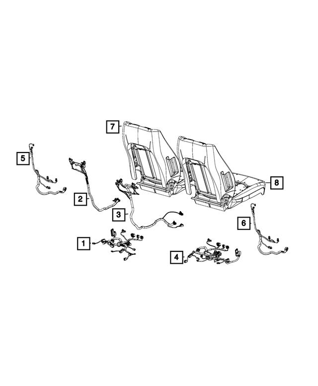 2019 Chrysler Pacifica Seat Cushion Wiring 68402382AC