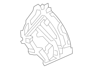 Genuine 2012-2015 Honda Wheelhouse Sub-Set, L Front 04652