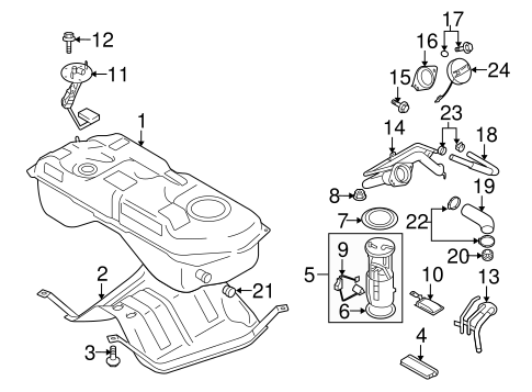 Fuel System Components for 2006 Suzuki Grand Vitara
