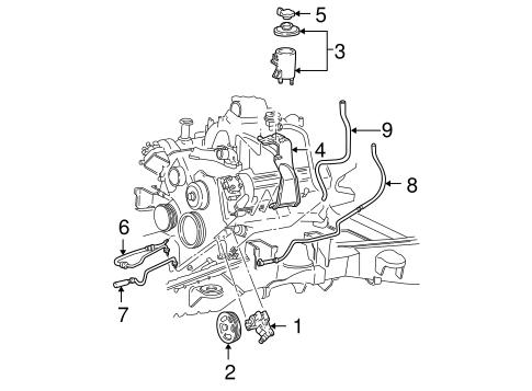 Power Steering Reservoir Bracket for 2002 Ford F-150|XL3Z