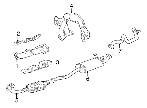 Genuine OEM Exhaust Manifold Parts for 1999 Toyota 4Runner