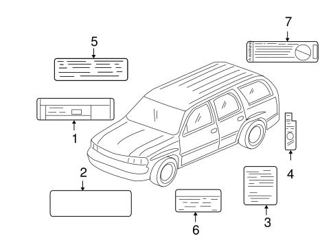 OEM 2001 Chevrolet Suburban 2500 Labels Parts