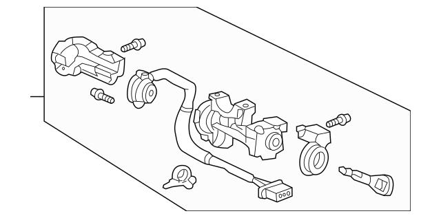 Honda Lock Assembly, Steering (
