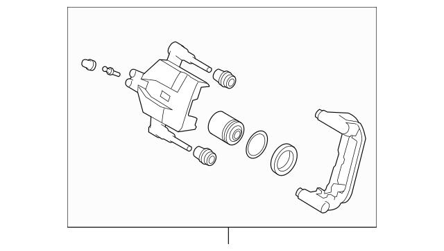 2007-2011 Mazda CX-7 Caliper(L) Rear Brake L206-26-990E