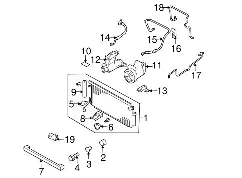 Condenser, Compressor & Lines for 2002 Subaru Impreza