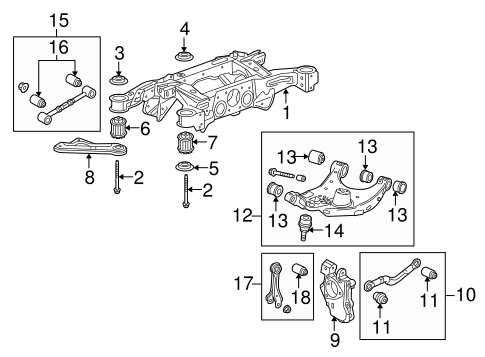 OEM 2010 Cadillac SRX Rear Suspension Parts