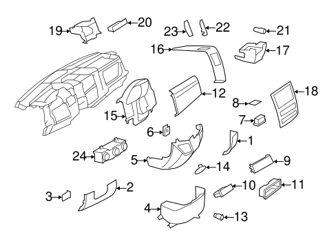 Instrument Panel Components for 2011 Mercedes-Benz