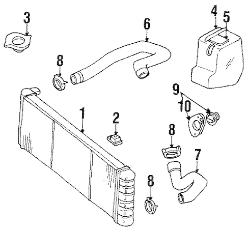 RADIATOR & COMPONENTS for 1999 Jeep Cherokee