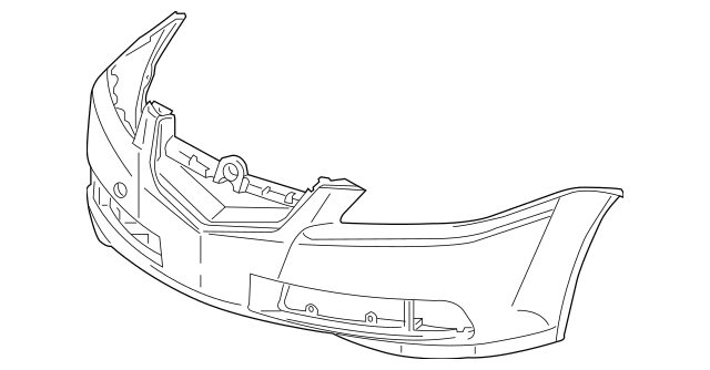 2007-2008 Acura TL SEDAN Face, Front Bumper (DOT) 04711