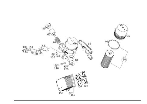 Oil Filter and Oil Cooler for 2014 Mercedes-Benz CLS 550