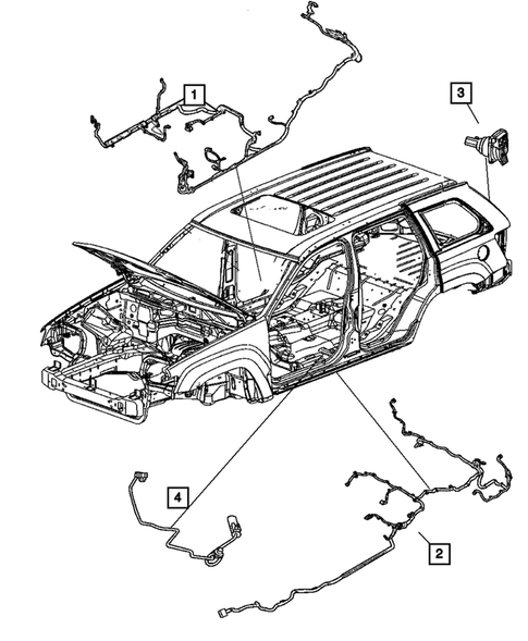 Wiring-Body & Accessories for 2007 Jeep Grand Cherokee