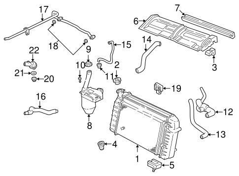 OEM 1997 Chevrolet Camaro Radiator & Components Parts