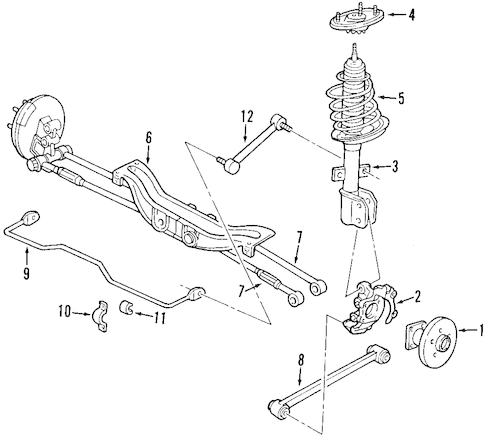 OEM 1999 Buick Century Rear Suspension Parts