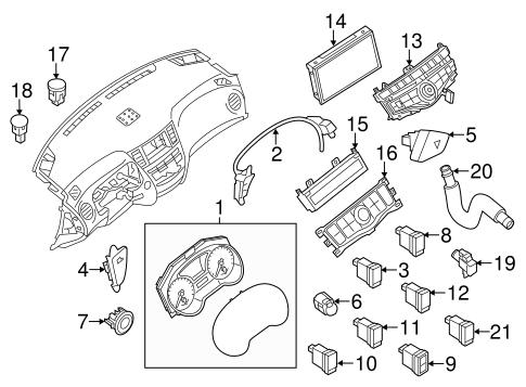 INSTRUMENTS & GAUGES for 2013 Nissan Pathfinder