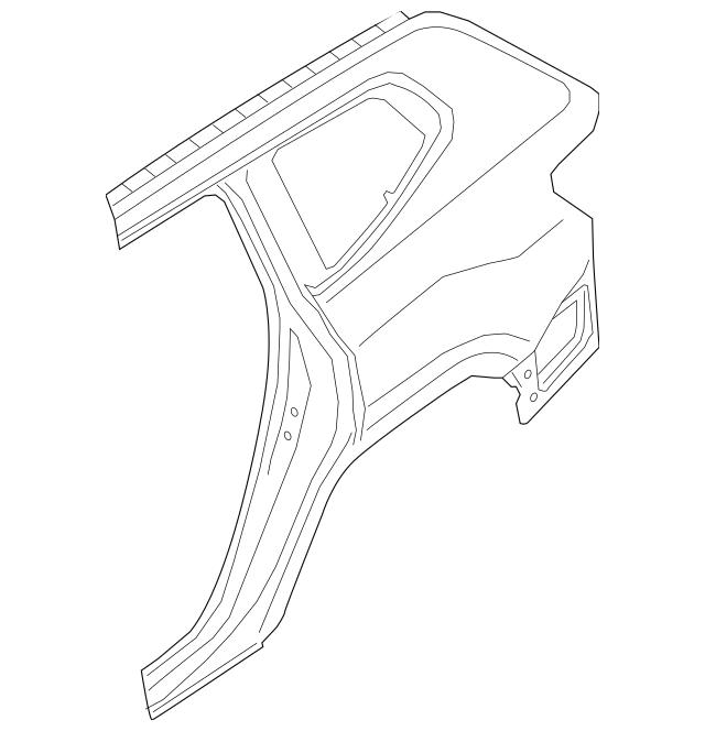 2018-2019 Volkswagen Atlas Quarter Panel 3CN-809-843