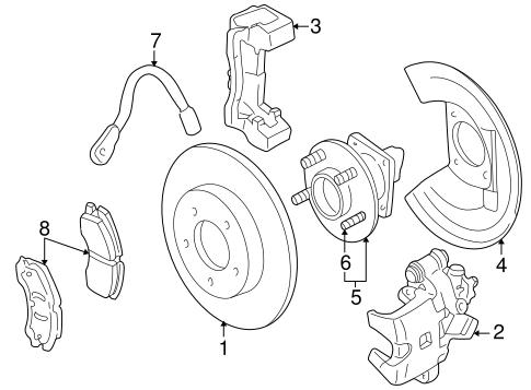 OEM 2001 Cadillac Seville Rear Brakes Parts