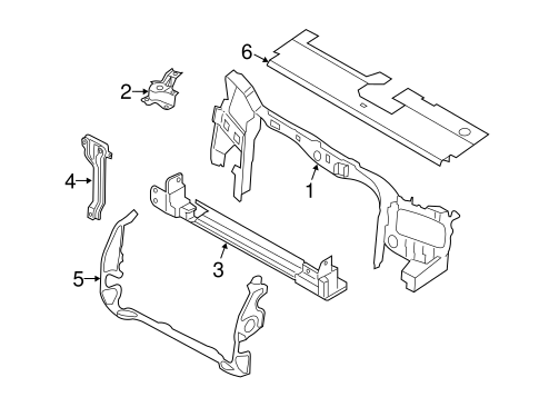 RADIATOR SUPPORT for 2010 Ford Escape