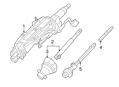 OEM 2011 Cadillac CTS Steering Column Assembly Parts