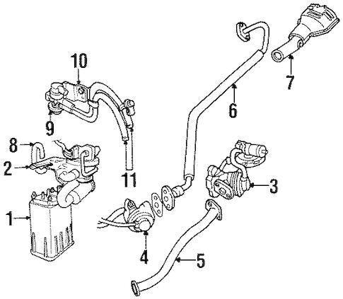Emission Components for 2000 Chrysler Sebring Parts