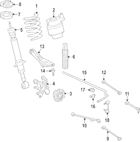 OEM 2007 Lincoln Navigator Ride Control Parts