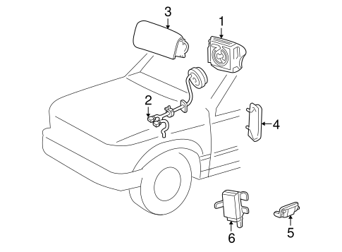 Air Bag Components for 2002 Ford Explorer Sport
