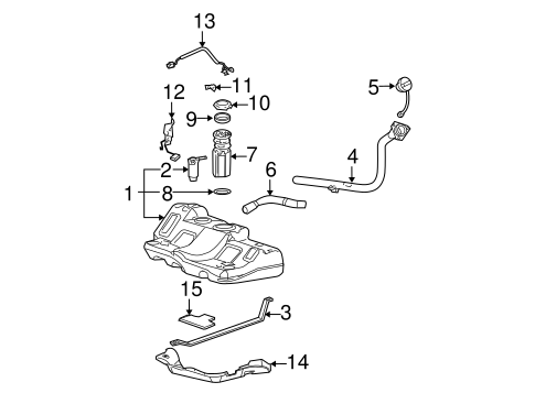 OEM Fuel System Components for 2004 Pontiac Grand Prix