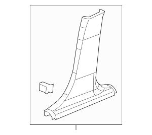 2012-2019 Chevrolet Sonic Lower Center Pillar Trim