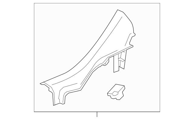 2012-2019 Chevrolet Sonic Rear Sill Plate 95932891