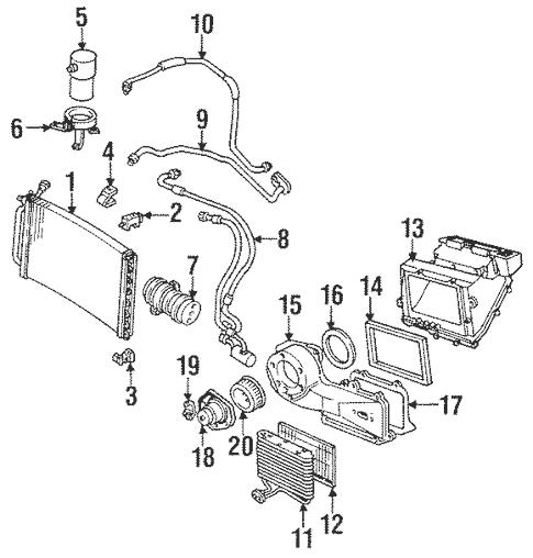Condenser, Compressor & Lines for 1990 Chevrolet Cavalier