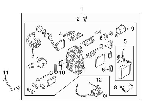 Evaporator & Heater Components for 2014 Nissan Versa Note