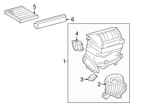 Genuine OEM Blower Motor & Fan Parts for 2015 Toyota