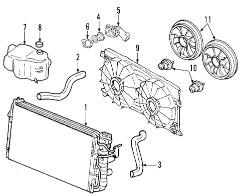 RADIATOR & COMPONENTS for 2007 Chevrolet Equinox