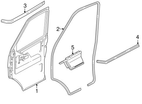 OEM VW Door & Components for 1993 Volkswagen EuroVan