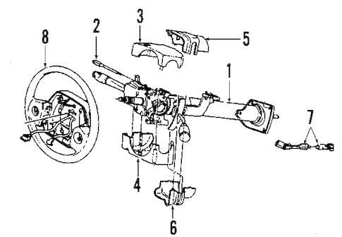 STEERING COLUMN for 1995 Dodge Ram 2500