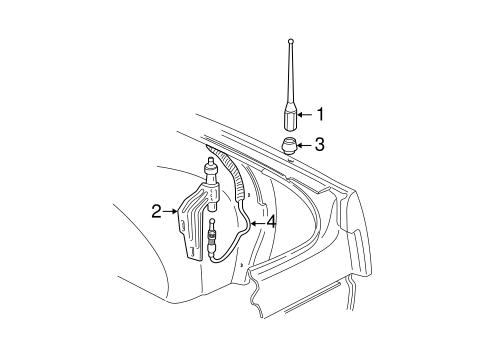 OEM 2000 Chevrolet Malibu Antenna & Radio Parts
