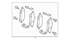 Genuine OEM Brake Pads Part# 007-420-57-20 Fits 2008-2015