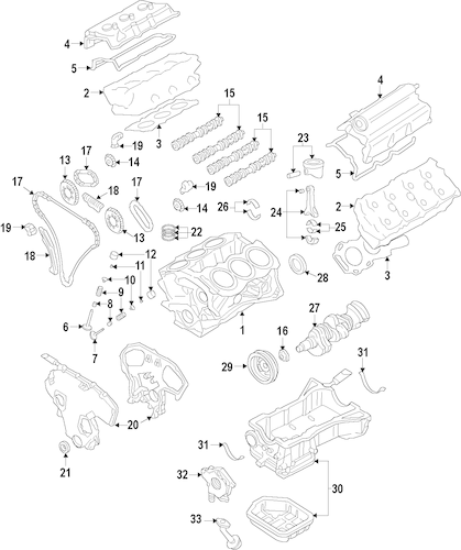 Oil Pump Parts for 2013 Infiniti JX35