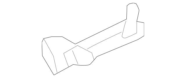 2009-2014 Acura TL SEDAN Duct, R Front Brake 74122-TK5-A00