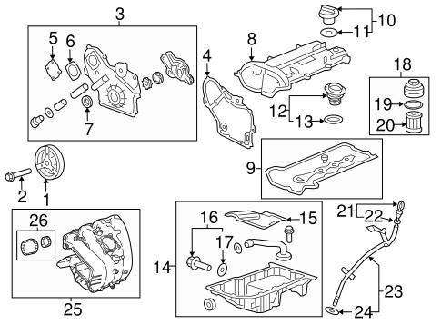 OEM 2013 Chevrolet Malibu Engine Parts Parts