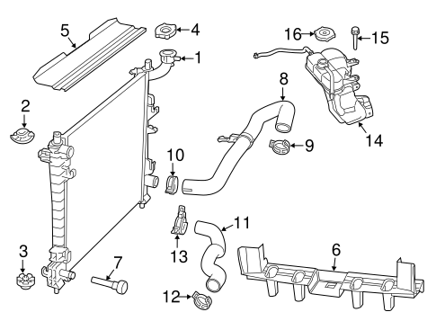 RADIATOR & COMPONENTS for 2014 Jeep Grand Cherokee