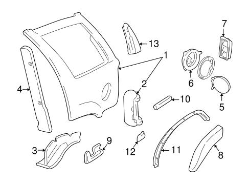 OEM 1996 Chevrolet Blazer Quarter Panel & Components Parts