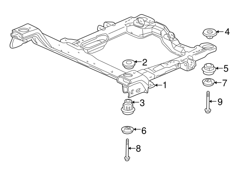 SUSPENSION MOUNTING for 2002 Buick Century (Limited)