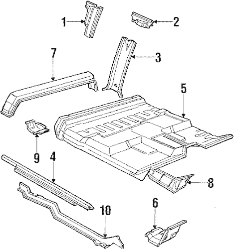 CENTER PILLAR & ROCKER for 1986 Ford F-150