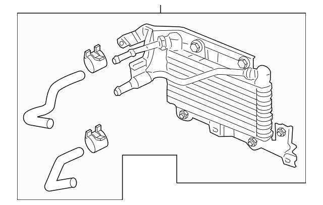 2007-2008 Acura TL SEDAN Cooler Assembly (Atf) 25500-RDB