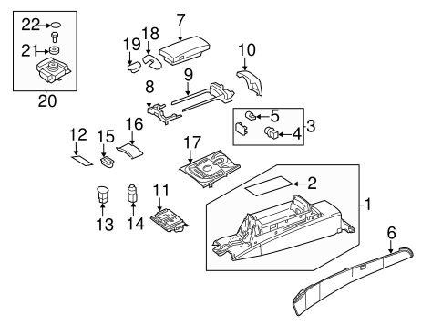 Center Console for 2014 Mercedes-Benz CLA 45 AMG