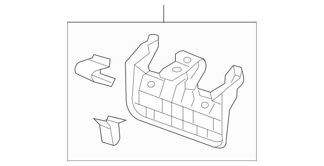 Honda Cover, Rear Seat Center Pivot (Lower) *NH900L* (Deep